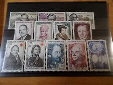 FRANCE - LOT timbres années '60, THEME CELEBRITES, neufs**, LUXE