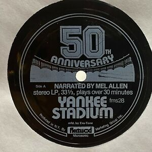Yankee Stadium - 50th Anniversary - Mel Allen: 1977 Baseball 45 RPM New York