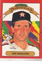 FREE SHIPPING-MINT-1990 Donruss #7 Jim Deshaies Astros DIAMOND KINGS
