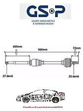 SEMIASSE GSP 235062 DX MERCEDES CLASSE A W169 CLASSE B W245 C/MANUALE 1693603272