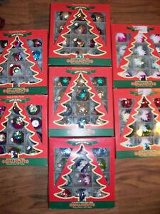 Christopher Radko 12 Mini Christmas Ornaments Shiny Brite *Your Choice* snowcaps