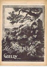 """Publicité Advertising 026 1918 Gueldy parfum """"Les Mimosées"""""""