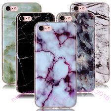 Marble Granite Soft TPU Rubber Case Cover For iPhone 4 5 6 7 Plus & Other Phones