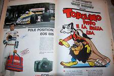 WALT DISNEY-TOPOLINO- IL MESSAGGERO - RISTAMPE 1989 -autografo Riccardo Patrese