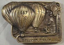1987 Albuquerque International Hot Air Balloon Fiesta Belt Buckle ML Designs