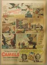 "Camel Cigarette Ad: Female Pilots ""Grasshopper Girls"" Half or Tabloid Page"