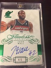 John Wall 2013-14 Panini Flawless autographed oncard Auto 4/5 Washington Wizards