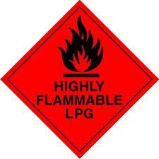 Magnétique Hazchem, avertissement de gaz GPL camping, voiture, camping-car caravane