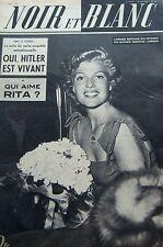 RITA HAYWORTH en COUVERTURE de NOIR et BLANC No 324 DE 1951 LES HOMMES OISEAUX