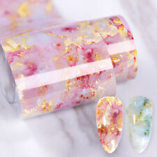 Marble Nail Art Foil Transfer Stickers 3D Nails Decoration Transfer Sticker En