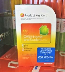 Microsoft Office 2010 Home Student Word Excel Powerpoint PKC for Windows 10 365