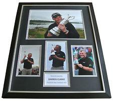 Darren Clark Signed FRAMED Huge Photo Autograph Display Golf Memorabilia & COA