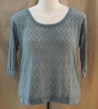 Decree, XL, Cornflower Blue Banded Top, New with Tags