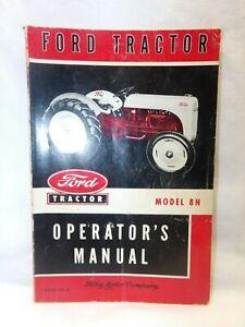 ORIGINAL FORD TRACTOR MODEL 8N OPERATORS MANUAL 3729-52-C