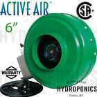 Active Air 6 inch In-Line Fan 400 CFM Blower Inline Ventilation Hydrofarm 6