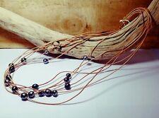 Beau sautoir de 18 véritables perles de TAHITI