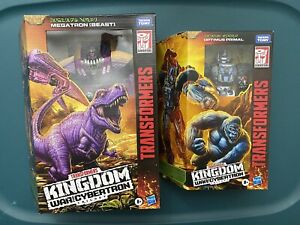 Transformers Kingdom War For cybertron Optimus Primal And Megatron (Beast)
