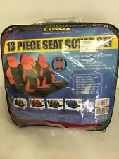 New 13 Piece red Car Seat Cover Set + Mats Steering Wheel Cover & More