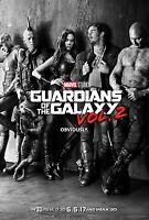 "GUARDIANS OF THE GALAXY VOL 2 2017 Advance Teaser DS 27x40"" Movie Poster C Pratt"