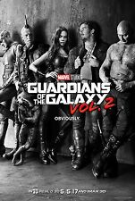 """Marvel GUARDIANS OF THE GALAXY VOL 2 2017 Advance Teaser DS 27x40"""" Movie Poster"""