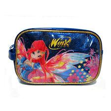 WINX beauty blu glitterato BLOOM da viaggio-portatrucchi 1 tasca 22x15,5x8 cm