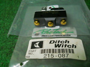Ditch Witch 215-087 Roller Lever Switch Fits BZ-2RW8225551-A2 Micro
