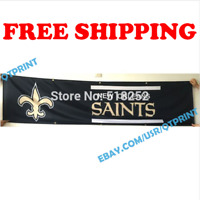 New Orleans Saints Banner Flag 2x8 ft 2020 NFL Fan Club Wall Home Decor NEW
