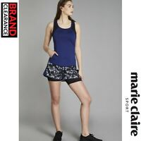 Marie Claire Sport Flex Logo Shorts with Inner Lining Gym Training RRP:£44.99