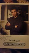 coronation Street castcard pp of dean fagan