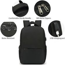Waterproof Men Women Backpack Bag School Travel Laptop Bags USB Charging Port