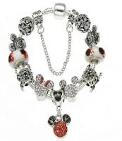 -Mickey and Minnie Mouse Charm Bracelet feat. Cinderella's Carriage