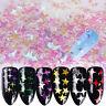 3D Nail Art Glitter Flake Sequins AB Mix Star Heart Round UV Gel Polish Sticker.