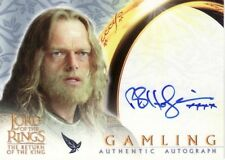 Lord of the Rings Return of the King Bruce Hopkins as Gamling Auto Card LotR