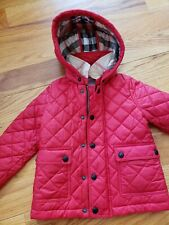 Genuine Burberry unisex quilted spring jacket (size 2t)