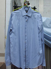Fabulous Hugo Boss Long Sleeve Blue Check Shirt 38 15 Regular Fit Smaert+Trendy