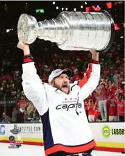 Alex Ovechkin Washington Capitals Hoists Stanley Cup 8x10 Photo