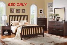 Fence Design Modern Queen Size bed frame Stylish Headboard Deep Espresso Finish