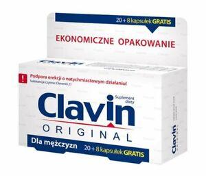CLAVIN 20 Caps + 8 Caps GRATIS, STRONG POTENCY ERECTION SEX LIBIDO BOOST PILLS