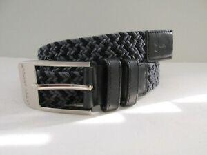 Under Armour Golf Youth Boys Size XL Black+Gray Braided Stretch Belt