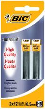 BIC critérium crayon Graphite Leads 0.5 mm -24 conduit de haute qualité HB