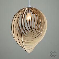 Esfera de estilo contemporáneo de madera 3D Pantalla Luz Colgante De Techo Pantalla de las gotas