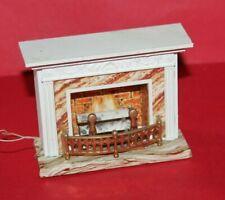 Vintage Dolls House Lundby Light Up Fireplace 1970's