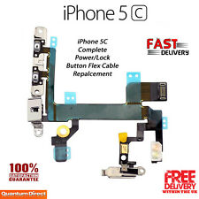 NEW Complete On/Off Power/Lock Volume Mute/Silent Button/Switch FOR iPhone 5C