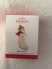 Hallmark KOC Member Exclusive Ornament Cozy on Ice 2015 Penguin in Ice Skate NIB