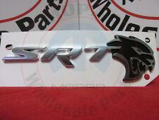 DODGE CHARGER HELLCAT Black & Silver SRT Deck Lid Nameplate NEW OEM MOPAR
