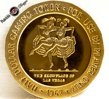 $.50 CENT FULL PROOF BRASS SLOT TOKEN SILVER SLIPPER CASINO 1967 FM LAS VEGAS NV