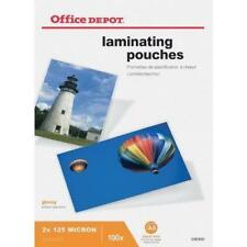Office DEPOT Laminating Pouches 250 (2 X 125) Micron A5 Clear Gloss Pack of 100