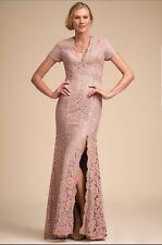 New $420 Anthropologie BHLDN Terani Couture Ceres Sz 6 V Neck Column Dress Blush