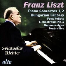 CD LISZT RICHTER PIANO CONCERTOS 1 & 2 HUNGARIAN FANTASY FEUX FOLLETS FUNERAILLE