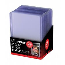 "Ultra Pro 3"" X 4"" Super Thick 100pt Toploader 25ct Ship"